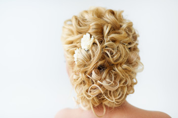 Beautiful wedding hairstyle rare view