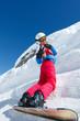 Adolescente snowboard
