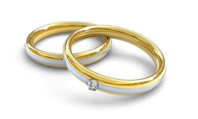 Ringe, Schmuck mit Diamant, Konzept Hochzeit