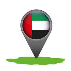 Vereinigte Arabische Emirate Markierung Flagge Icon Button