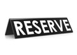 Reserve tag with black
