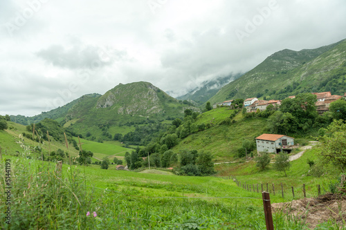 Rural landscape, village