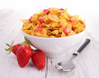 cornflakes and strawberry