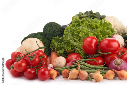 arrangement of raw vegetable