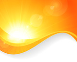 Sun background with wavy pattern