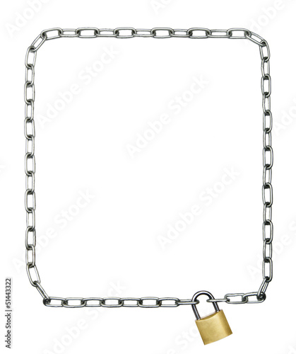 Steel chain frame