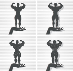 Hand and Bodybuilder