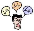 Man lie
