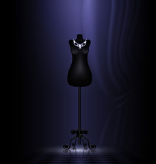 craft dummy in a black room