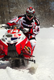 Fototapety red snowmobile