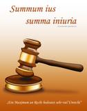 Symbol der Gerechtigkeit - der Gerichtshammer