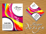 abstract colorful flayer design