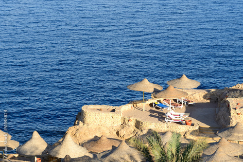Sunset at Naama Bay, Red Sea and beach, Sharm el Sheikh, Egypt