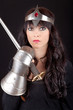 Princess holding a sword