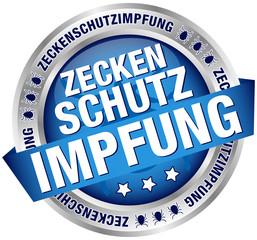 "Button Banner ""Zeckenschutzimpfung"" blau/silber"