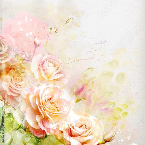 akwarela-roz