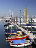 Colourful Sailing boats, Arcachon Harbour, Gironde, France