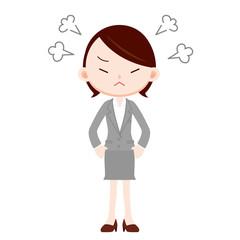 会社員 女性 怒る