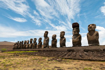 Tongariki Moais, Easter Island, Chile