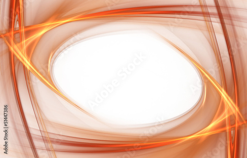 Amazing bright orange waves on white background
