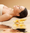 Woman In Spa Salon Lying On Th...