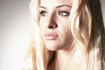 Beautiful tender blond woman