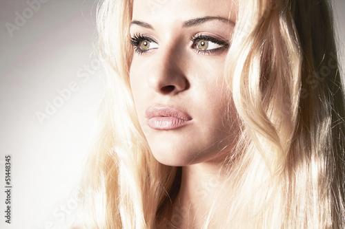 Beautiful tender blond woman