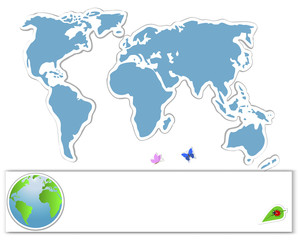 Earth Day. Sticker map.