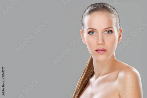 Perfect beauty, isolated, studio shot