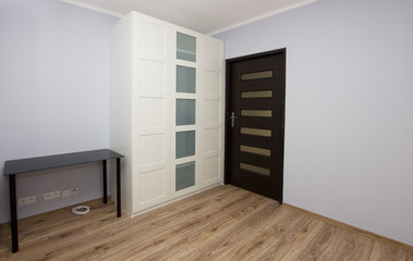 apartment interior with wardrobe