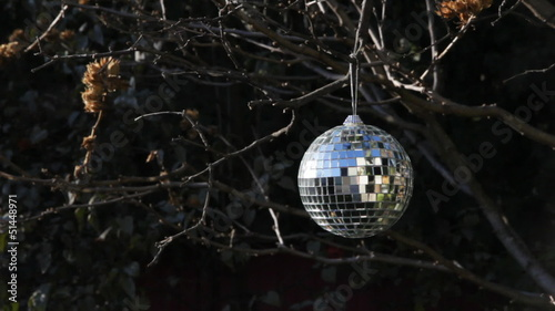 Winter disco ball. Three shots.