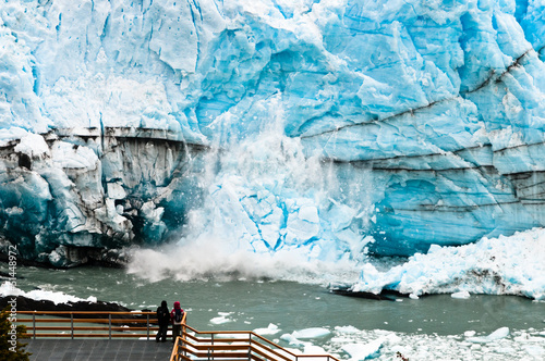 Large stack of ice falling from the Perito Moreno Glacier - 51448972