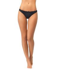 female legs in black bikini panties