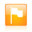 flag orange square web glossy icon