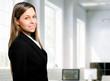 Beautiful businesswoman in her office