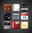 business apps icons for mobile devices vector set
