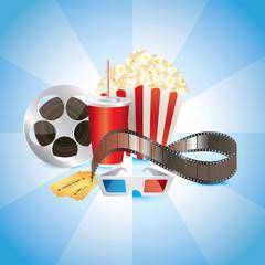 cinema photo-realistic vector background