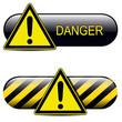 Exclamation danger buttons, icons design.