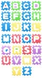 Colored puzzles letters, Alphabet for children