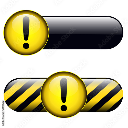 Exclamation danger buttons, icons