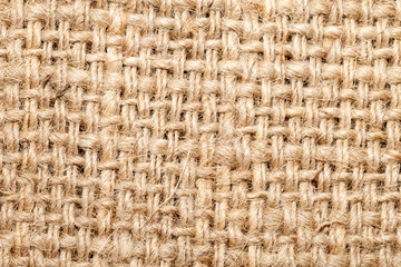 Background of burlap hessian sacking, coarse cloth made ​​of