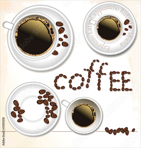 Coffee cup set - vector illustration