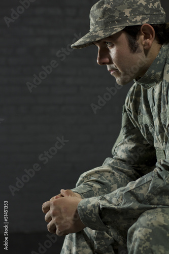 Young man from Army dealing with Post Traumatic Stress Disorder