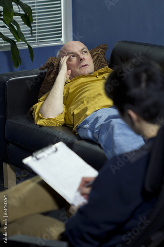 Man at a therapy session