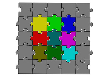 Puzzle renkli