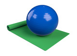 fitness mat and ball
