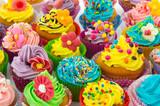 Fototapety Birthday cupcakes
