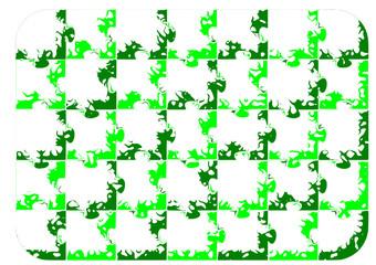 Pattern yeşil puzzle desen