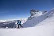 Skitour in den Bergen