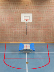 Interior of a gym at school